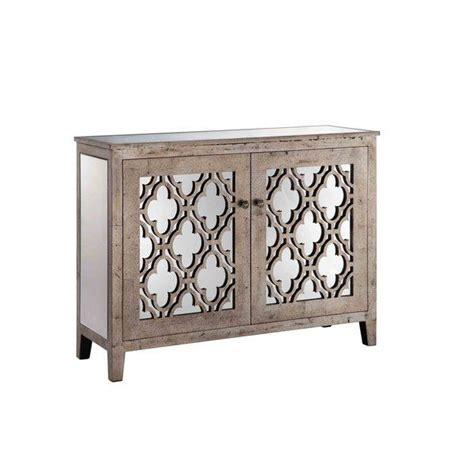 Quatrefoil Console Table Horchow Weathered Wood Mirrored Quatrefoil Console
