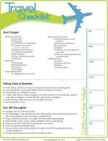 5 best images of international travel checklist printable