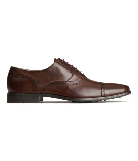 leather oxford shoes h m leather oxford shoes in brown for brown lyst