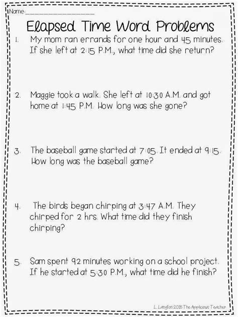 Elapsed Time Worksheets 4th Grade by With Elapsed Time And A Freebie