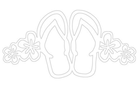 summer flip flops paper cuts coloring pages pinterest