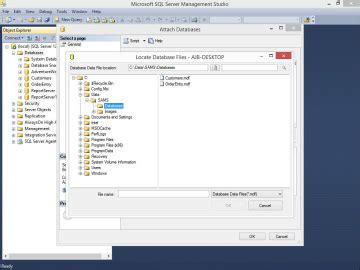 ref 70 765 provisioning sql databases books attaching to an existing database creating a sql server