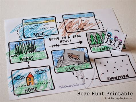 printable maps for crafts going on a bear hunt free printables and crafts