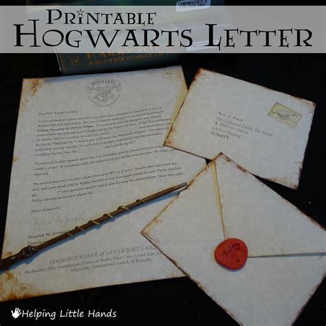 Invitation Letter Harry Potter Pieces By Polly Printable Hogwarts Acceptance Letters Or