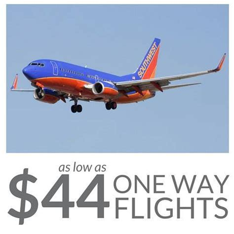 cheap southwest airlines flights as low as 44 one way