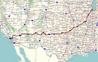 route 66 map list of