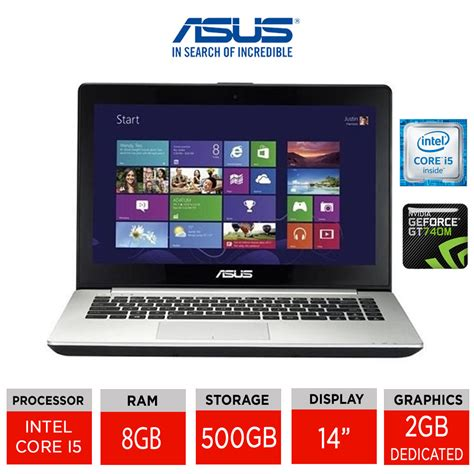 Laptop Asus Vivobook S451lb asus vivobook s451lb 14 quot gaming laptop intel i5 4200u 8gb ram 500gb w8 ebay