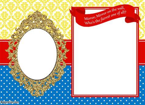 www free free printable snow white birthday invitations bagvania