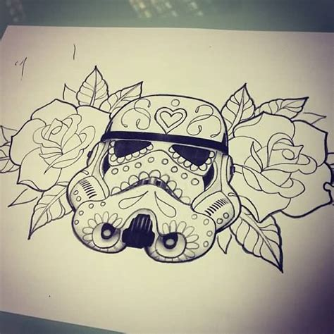 sugar skull tattoo designs tumblr wars simple outline pictures to pin on