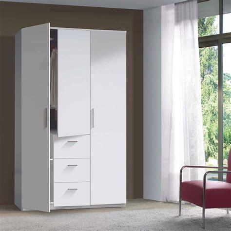 armadio 3 ante battenti armadio moderno bianco lucido 3 ante battenti e 3 cassetti