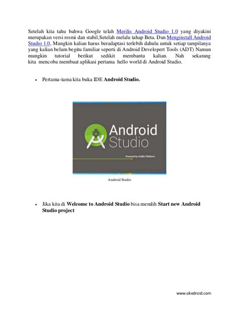 download tutorial android studio indonesia android studio tutorial