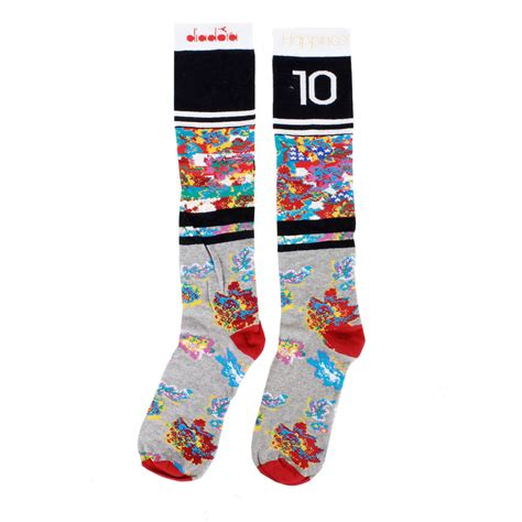 pattern flower socks diadora unisex flower pattern long socks spence outlet