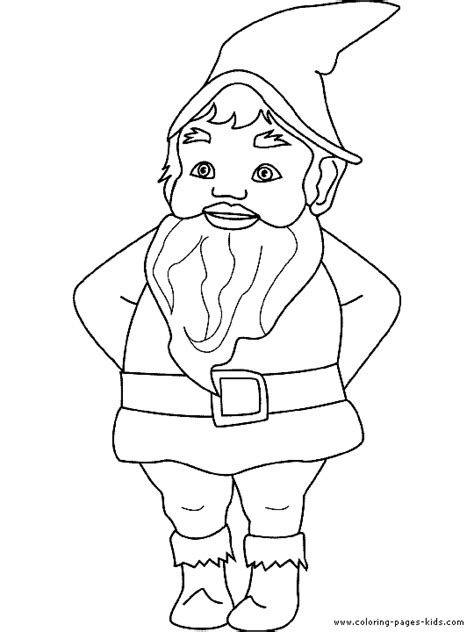 Coloring Page Garden Gnome | free coloring pages of garden gnome