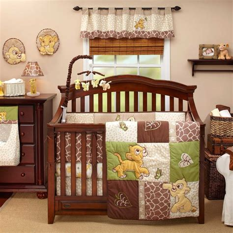 baby cing bed lion king go wild baby bedding and decor for girls