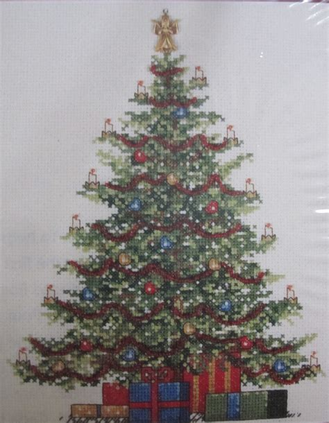 christmas tree pattern in c christmas tree counted cross stitch kit 309846 leisure