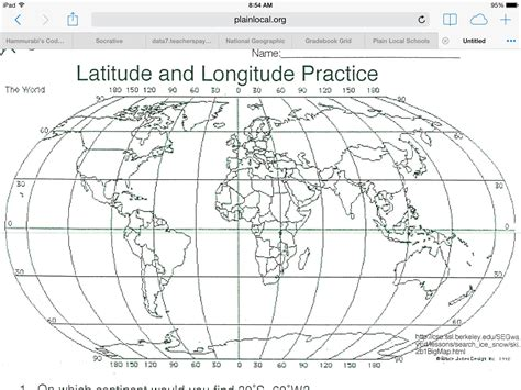World Longitude And Latitude Worksheets by Water Cycle Worksheet High School Abitlikethis