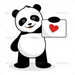 graphicriver panda brings love message 6034678