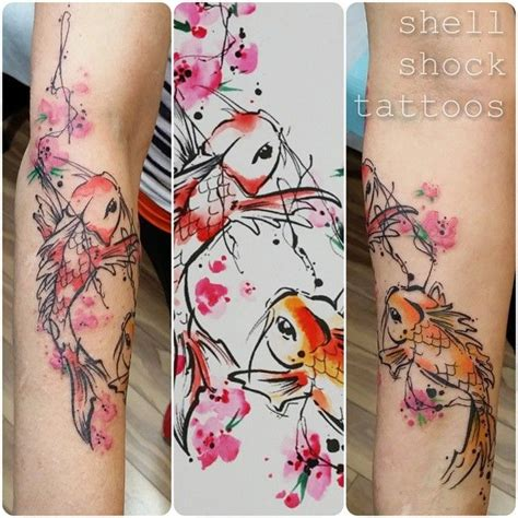 watercolor tattoo portland or watercolor two lovely koi and