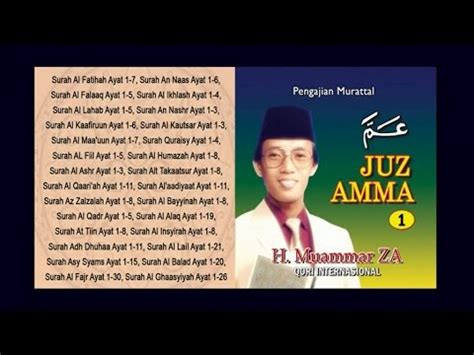 Cd Ekonomis H Muammar Za Tilawatil Quran Surah Fush Shilat h muammar za juz amma vol 1 album vidoemo emotional unity