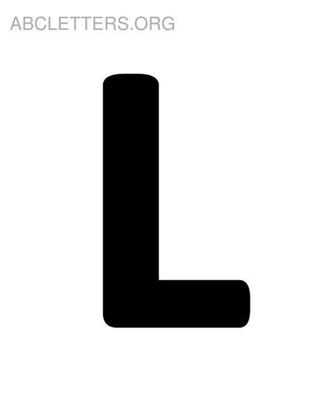L Black by 6 Best Images Of Printable Letters Alphabet L