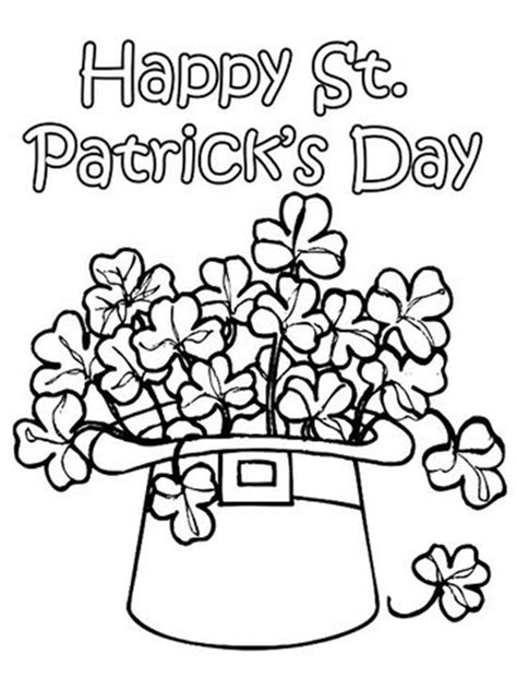 12 st patrick s day printable coloring pages for adults