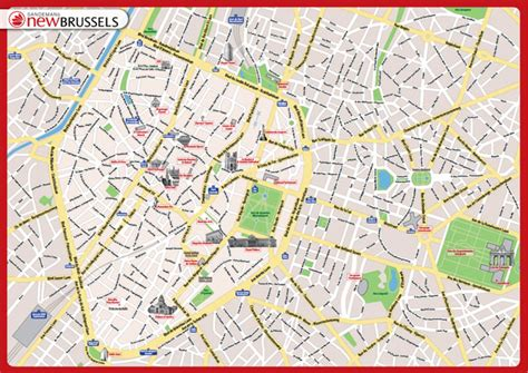 brussels map map of brussels tourist travel map travelquaz