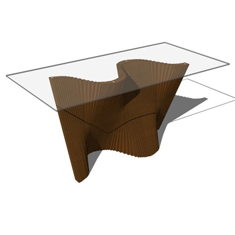 Extended Dining Table wave tables 3d model formfonts 3d models amp textures
