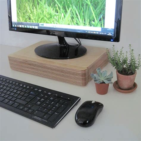 Computer Monitor Riser With Drawer by Pacco Monitor Stand And Drawer Homeware Furniture And