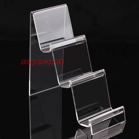 Mobile Phone Rack by 2 X Acrylic 3 Tiers Display Holder Stand Rack Mount For
