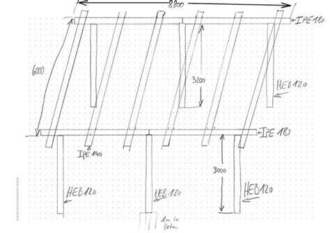 zeichnung carport carport zeichnung statik bau baugenehmigung stahltr 228 ger