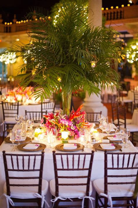 Elegant Tropical Wedding Centerpiece   Elizabeth Anne