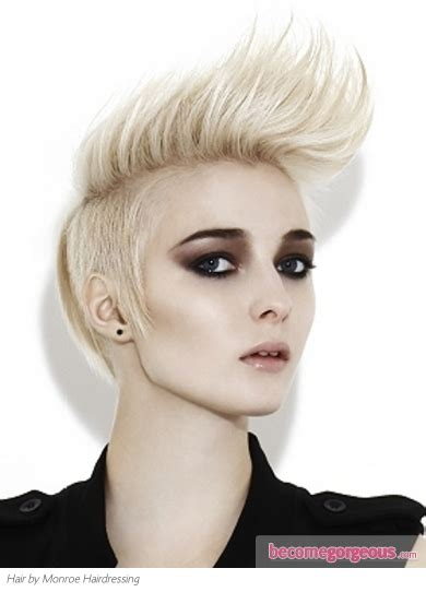 girl hairstyles blonde pictures punk girl hairstyles short blonde mohawk hair