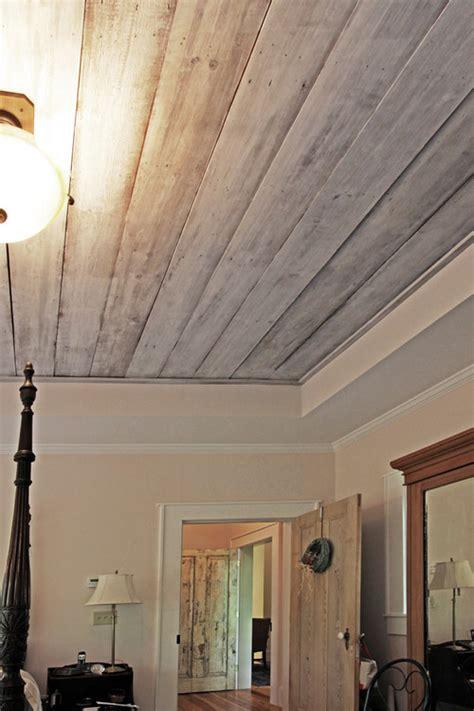 refinish  barn wood ceiling