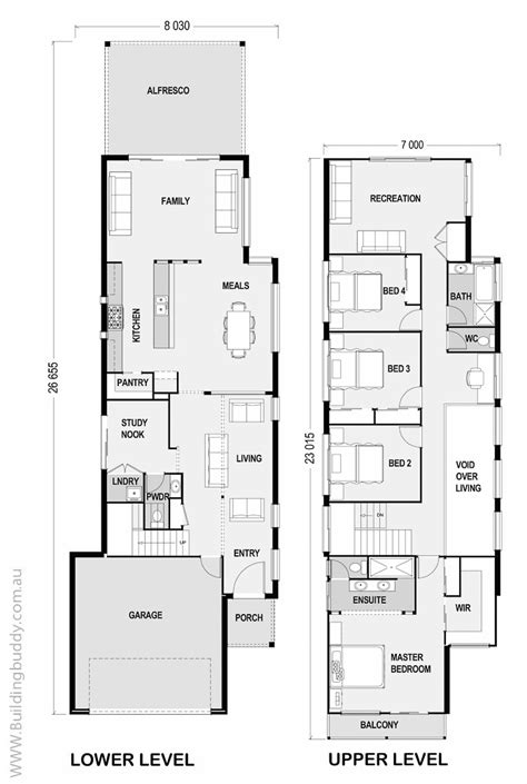 small lot floor plans house plans home designs building prices builders
