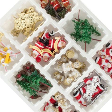 75 piece assorted christmas decorations in a display box
