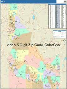 Idaho zip code map from onlyglobes com