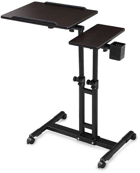 laptop desk on wheels adjustable computer desk height rolling laptop carts