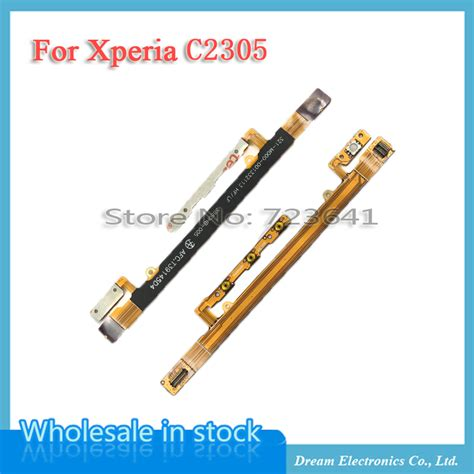 Sony Xperia C C2305 Volume On mxhobic 10pcs lot power on button flex cable for sony