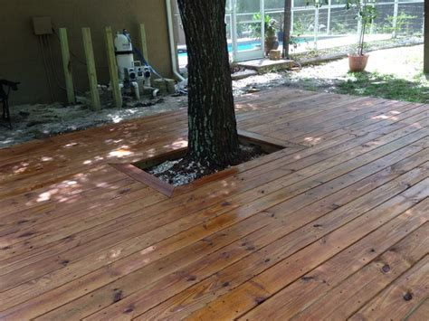 deck staining images  pinterest