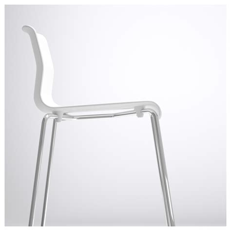glenn bar stool white chrome plated 66 cm