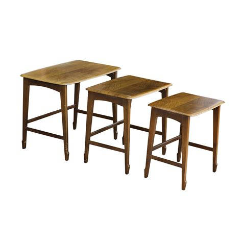 nesting tables set of three mahogany remploy wooden nesting tables mr12866 ebay