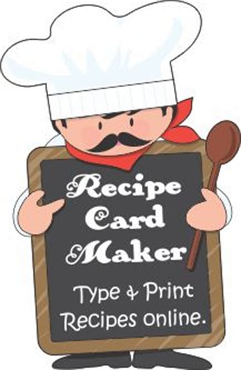 recipe maker template 1000 ideas about card templates printable on