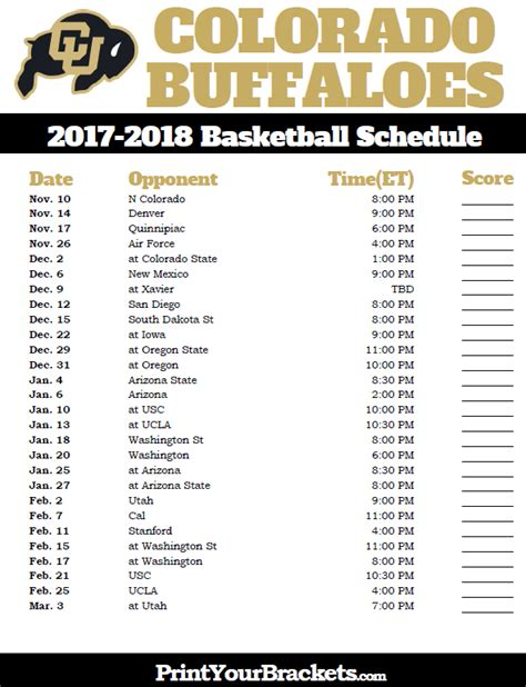 uk basketball schedule google calendar printable colorado buffaloes 2017 2018 basketball schedule