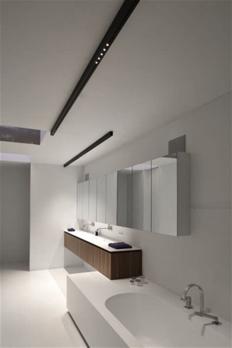 Contemporary Bathroom Downlight White Bathroom With Black Kreon Nuit Surface Mounted Led