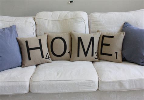 Scrabble Letter Pillows home scrabble pillows cases only scrabble tile by