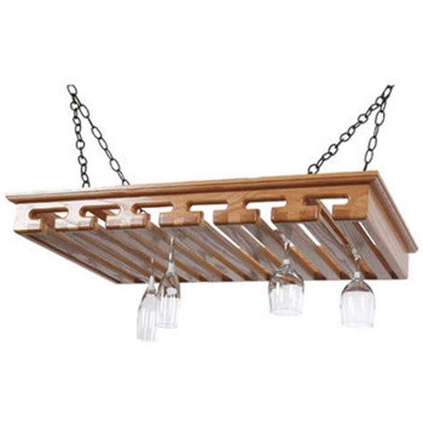 Hanging Stemware Rack by Stemware Racks 24 Glass Hanging Solid Oak Stemware