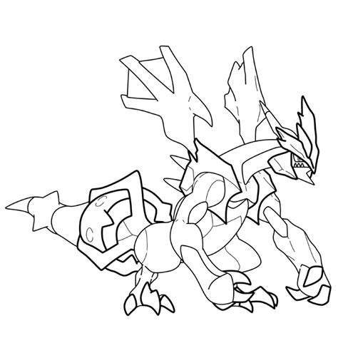 pokemon coloring pages kyurem white kyurem from pokemon free colouring pages