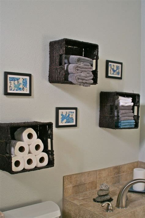diy bathroom baskets diy wall art basket storage