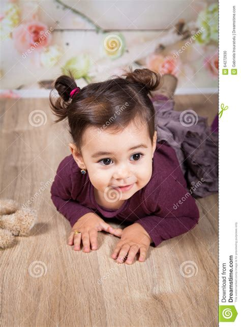 texturizer on 1 year old babies hair 1 and a half year old baby girl indoor stock photo image