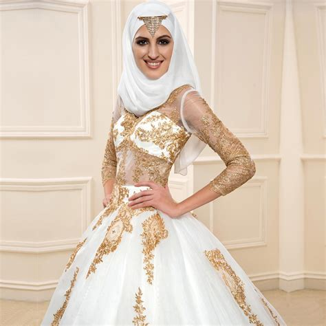 Muslim Wedding Dress by Satin Muslim Wedding Dress Promotion Shop For